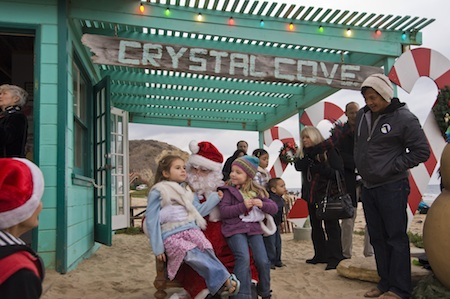 Last year, revelers met Santa at the sea.