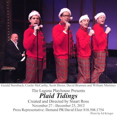 "The holiday musical ""Plaid Tidings,"" at the Laguna Playhouse, runs through Dec. 30."