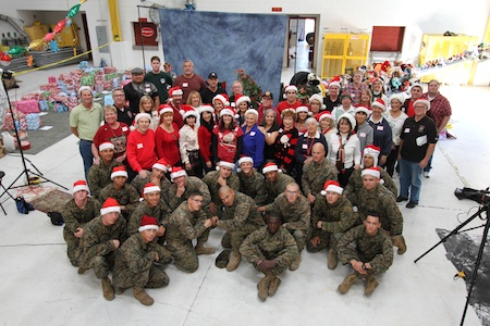 Santa's elves at Camp Pendleton know how to throw a party.