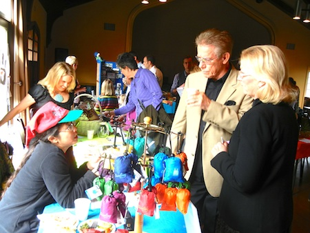 Shoppers at last weekend's market.