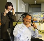 Enthusiastic campaign callers Pamela London Franck and John Trevino helped Schoolpower fundraising hit a new record.