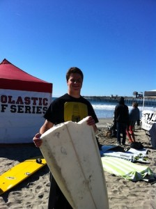 Eric Siegrist took second in longboard despite an early setback on a borrowed board.