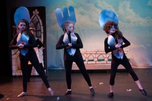 Silly Girls, from left, Lydia Steinhof, Katie Hayden and Madeline Seitz.