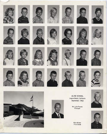 Aliso School First Grade, 1962