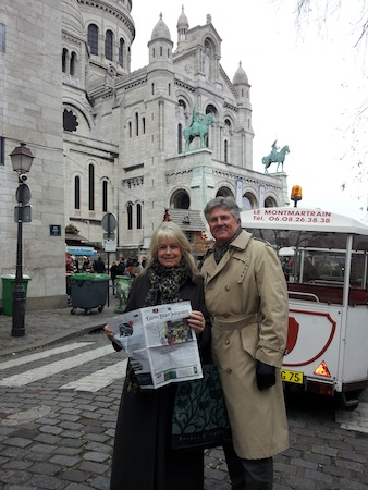 Laguna Beach residents Dave and Linda Roark in October outside Montemarte's Sacre Coeur, the 130-meter high hill in Paris' 18th arrondissemont.