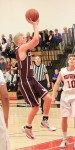 Junior Alec Wulff goes up for two of his game and career high 29 points in the Breakers 73-60 second round CIF loss on the road to Harvard Westlake.