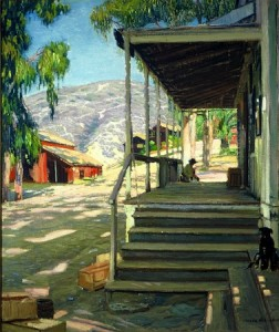 Early plein air artist Joseph Kleitsch's work depicting Laguna's Post Office.
