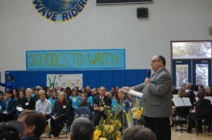 Irvin Howard's presentation at Thurston Middle School last week.