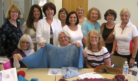 The Susi Q knitters benefit from senior center contributions.