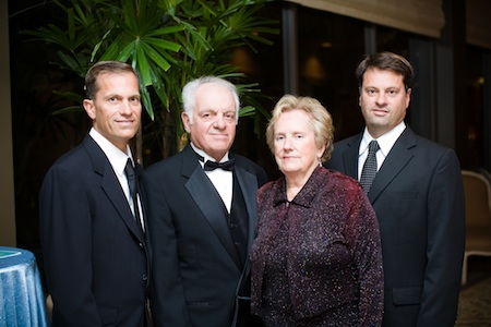 From left, Marc, Marcel, Monica and Dominic Pitz, owners of Laguna Beach restaurant Dizz's As Is, honored by Saddleback Memorial in 2007 for their support.