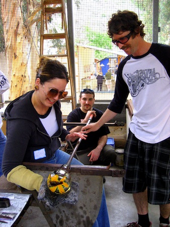 Classes teach the skills behind glass blowing.