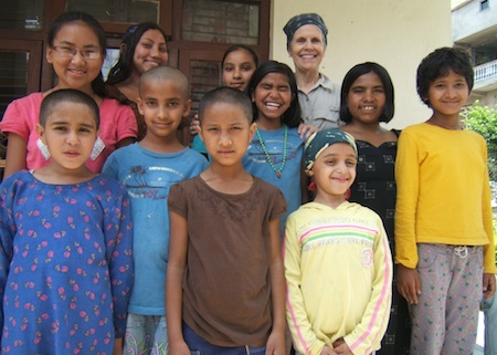 Book sale benefits a children's home in Kathmandu.