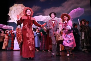 "Haley Castuera in the title role of the high school's production of ""Hello, Dolly."" Photo by Roark Gourley"