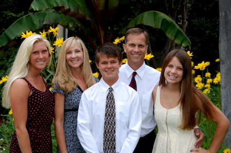 Marc Pitz, second from right, with his children, from left, Taylor, Julie, Mason and Makenna.