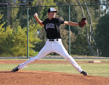 Senior Jackson Rees collected his fourth win of the season, throwing a complete game to beat Calvary Chapel 6-3