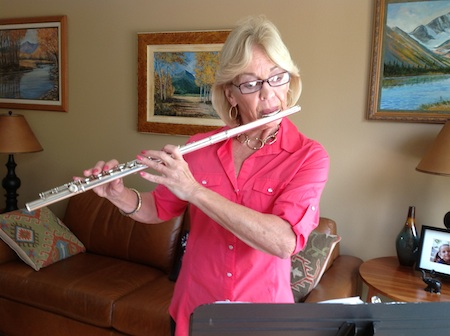 Flute section leader Betsy Foster