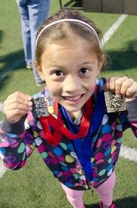 Maesen Silva, in Division 2 Girls, placed first in 50 and 100 meter and second in the 400.