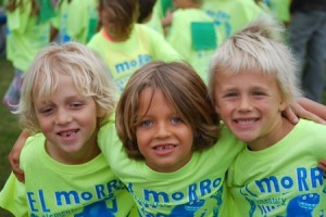El Morro runners, from left, Parker Gapp, Hudson Saunders, and Davis Dix