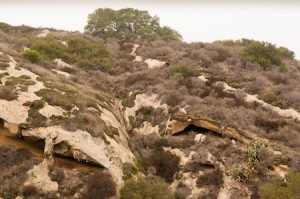 I'm Melting:  Seemingly liquid canyon walls provide cover for hidden sandstone caves.