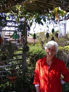 Mary Jones welcomes visitors to her yard next week.
