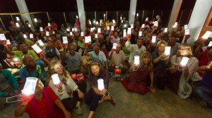 Local writer Robin Pierson joined the mission to India organized by Tenpa Dorjee and Laguna's  Congregational Church.