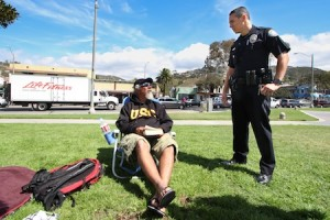 .Local homeless resident Frankie Anthony shares his insight on newly arrived transients.