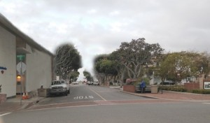 The magic of Photo Shop shows how Ocean Avenue will look without the trees targeted for cutting.