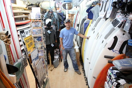 Rod Greenup, in his cramped Costa Azul shop, will expand next door. Photo by Jody Tiongco