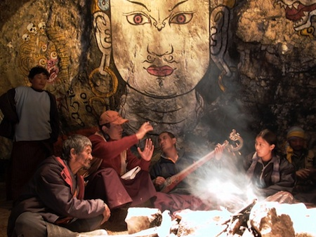 A scene from Bhutan-made movie.