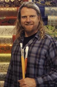 Surfer-artist Noel Lasley