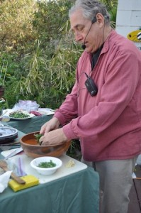 Corky Peterson's culinary presentation last month.