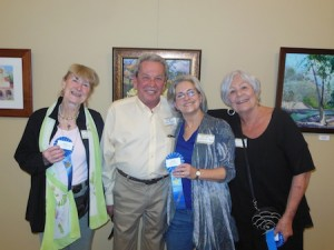 Mayor Kelly Boyd congratulates winners, from left, who included Loraine Hollingsworth, Carolyn Bent and Corinne Matser.