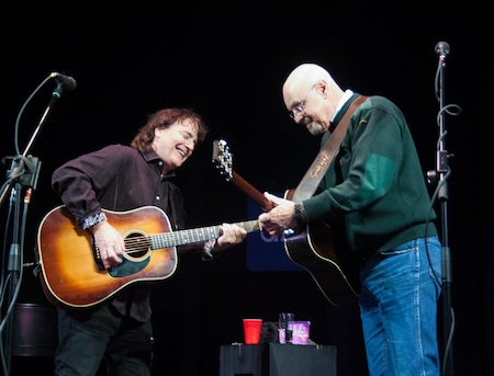 John Batdorf, left, and James Lee Stanley will be heard performing in a live broadcast on Saturday.