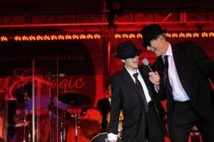Ralph Clayman, MD, dean of UC Irvine Health School of Medicine, and Elizabeth Tierney performing at a recent gala.