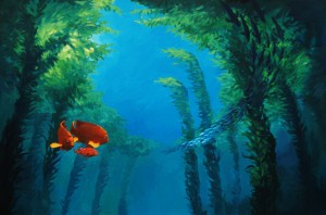 An artist's rendering of Laguna's undersea forests.