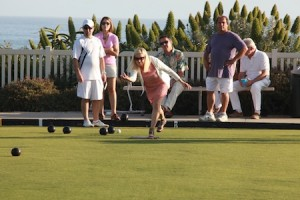 Playing the bowling greens and taking in the ocean views.
