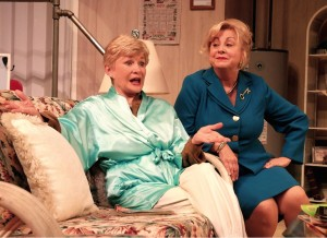 "Teri Ralson and Van Rae Wood in Laguna Playhouse's ""Steel Magnolias,"" through May 26."