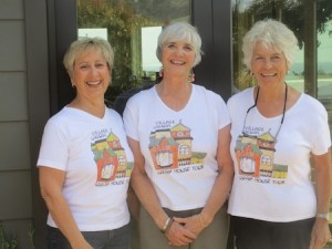 Charm House Tour organizers, from left; Johanna Felder, Kate Clark and Charlotte Maserik.