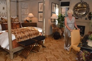 Designer Jeanine Veldhuis in the room she worked on.