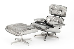Cheryl Ekstrom's Eames chair and ottoman.