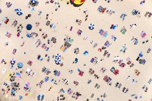 "A sample of Malin's work, ""Bondi Beach."""