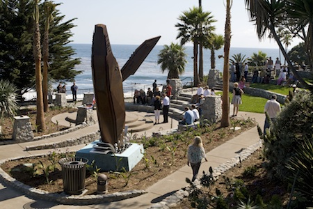 Jon Seeman's whale is among the tour of public art works in Heisler Park.