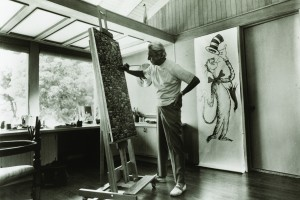 Artist Ted Geisel at work.