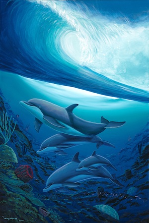 """Below the Surf,"" a Wyland work."