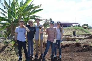 Mission trip participants, from left, Daniel Peterson, Patrick Campion, Jacob Duffy, Conner Campion and Carly Mooshian.