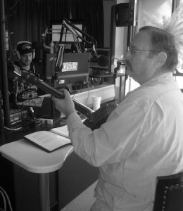 Gary Shapiro in a recent live appearance on Laguna radio station 93.5 FM, and in his first high school show in 1989.