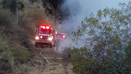 Laguna Engine 302 as part of a strike team on the Springs fire.