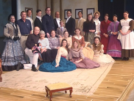 "Foundation supporters with the ""Little Women"" cast of the Laguna Playhouse production."