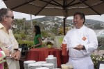 Chef Alan Wong serves one of last year's guests.