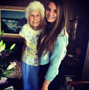 Heather Lloyd and her great-grandmother, Lillian Lloyd, last year.